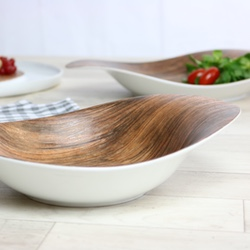 Wood Design Porcelain Tableware